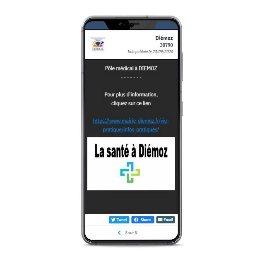 Panneau Pocket Diémoz - Depuis votre mobile