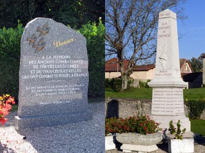 Monument et stele du souvenir de Diémoz